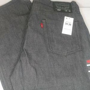 Levi Blank Tab 514 Stretch Men's Jeans 34 X 30